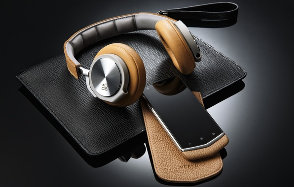 Picture headphones, phone, case, smartphone, Bang & Olufsen, Bang and Olufsen, BeoPlay H6, Vertu