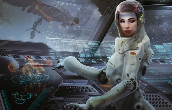 girl in space suit wallpaper - photo #46