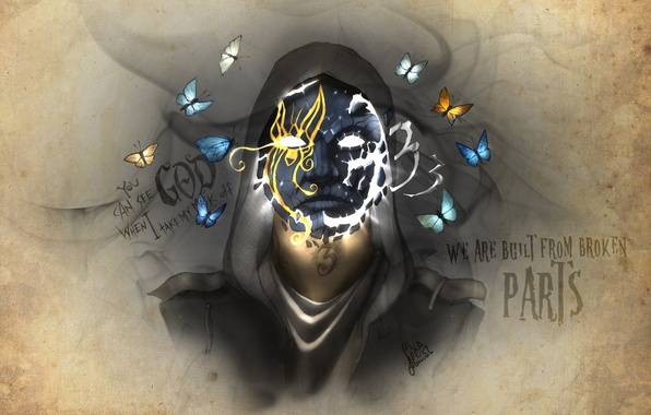 Picture Hollywood Undead, artwork, Johnny 3 Tears, Notes from the Underground