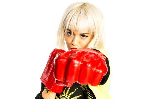 Picture pose, gloves, singer, Rita Ora, Rita Ora