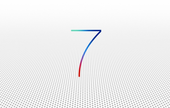 Picture white, background, apple, operating system, version, 7 iOS