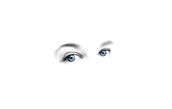 Picture eyes, people, white background