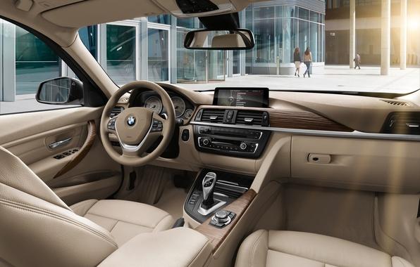 Picture bmw, BMW, interior, the wheel, sedan, salon, sedan, torpedo, luxury line, sitting, luxury line, 328i