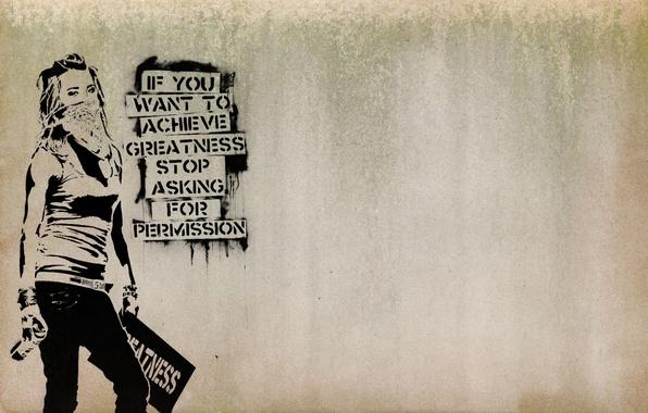 Picture freedom, girl, graffiti, mask, headband, opinion, resistance