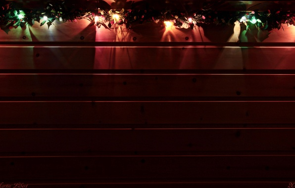 Picture lights, comfort, tree, Board, texture, torch, Garland