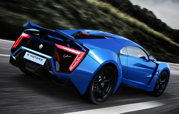 Picture car, supercar, supercar, blue, race, Lykan Hypersport, W Motors, UHD