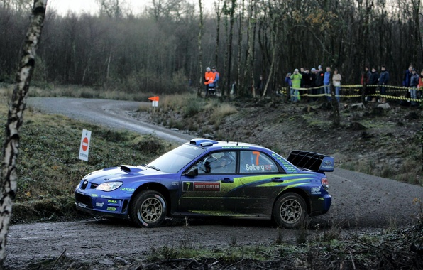 Picture road, turn, skid, dirt, subaru, rally, UK, rally, wrx, impreza, wrc, sti, 2007, great britain, …