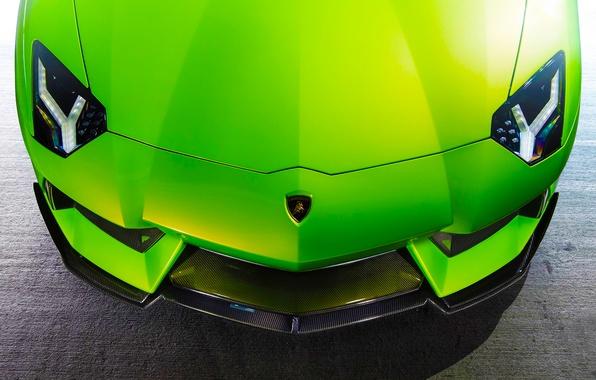 Picture Lamborghini, Green, Front, Vorsteiner, Aventador, Supercar, Aventador-V, LP740-4