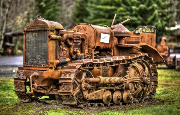 Picture tractor, old, rarity