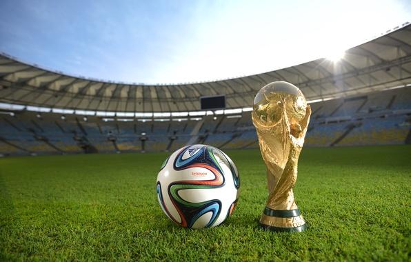 Picture The ball, Sport, Football, Brazil, Ball, Football, Stadium, Stadium, Brazil, Sport, Cup, Maracanã, Brazuca, Mario …