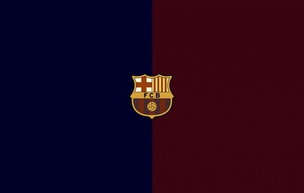 Picture football, logo, club, emblem, Spain, Barcelona, Barcelona