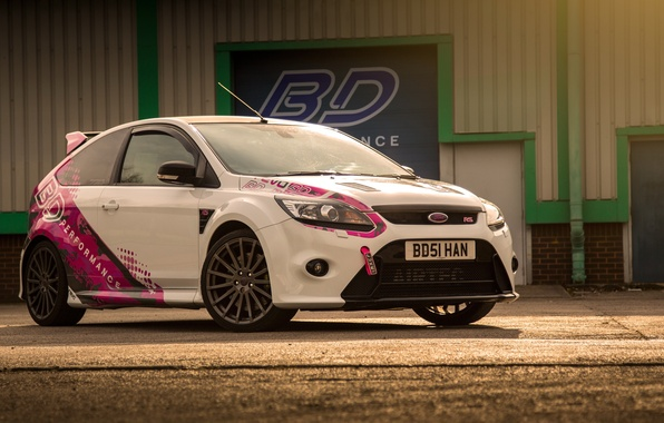 Picture Ford, white, focus, bd perfomance