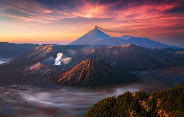 Wallpaper the sky clouds fog morning indonesia java - Nature ka wallpaper ...