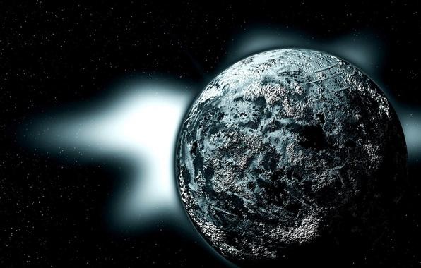Picture black, planet, gray, sci fi