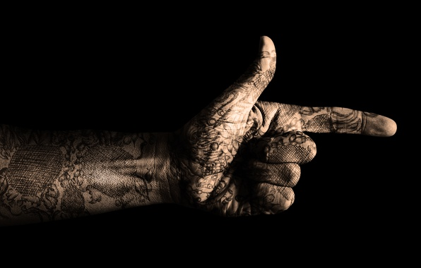 Picture darkness, style, darkness, the darkness, hand, killer, gesture, tattoo, killer
