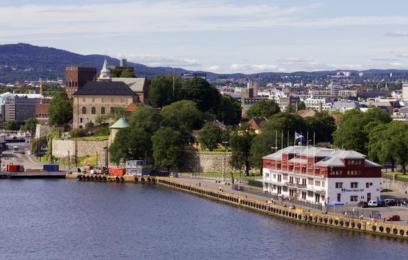 Picture building, pier, Norway, Norway, Oslo, Oslo