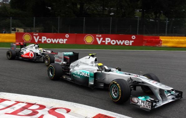 Picture race, track, fight, turn, formula 1, pilot, mercedes, Mercedes, formula 1, racer, 2011, formula one, …