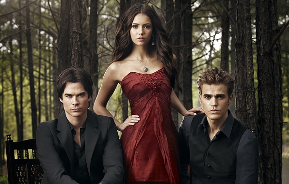 Picture the series, Nina Dobrev, the vampire diaries, Ian Somerhalder, Ian Somerhalder, Paul Wesley, Paul Wesley, …