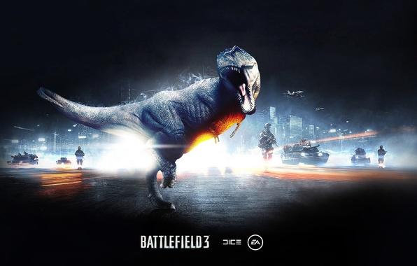 Picture dinosaur, lizard, roar, battlefield 3