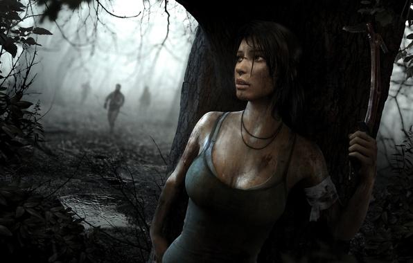 Picture girl, the game, Tomb Raider, game, Lara Croft, survival, Lara Croft