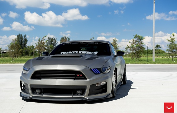 Picture machine, auto, Mustang, Ford, Ford, Mustang, wheels, drives, auto, Vossen Wheels