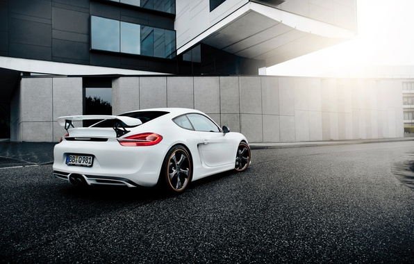 Picture white, Porsche, Cayman, Porsche, TechArt, Caiman