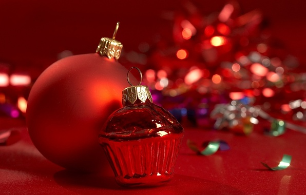 Picture glass, photo, background, mood, holiday, balls, Wallpaper, toys, new year, tinsel, Christmas decorations