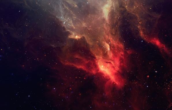 Picture space, stars, nebula, art, TylerCreatesWorlds
