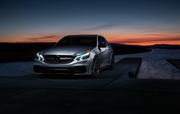 Picture Mercedes-Benz, Car, Carbon, Sunset, Grey, Matte, Motorsport, Sonic, E63, Mode, AMG S