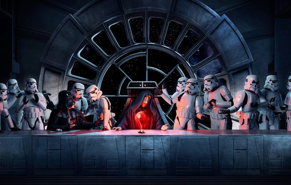 Picture star wars, star wars, stormtroopers, the Emperor, Vader