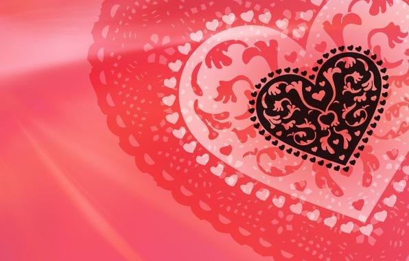 Picture heart, red, Valentine, Valentine's Day, Heart, Valentine's Day. Valentine, fishnet