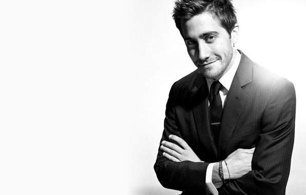 Picture black and white, actor, Jake Gyllenhaal