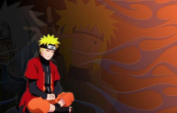 Photo Wallpaper Cloak Naruto Jiraiya Minato The Mode Of A Hermit