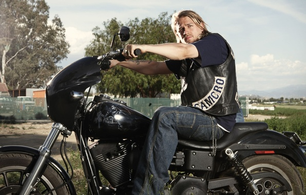Picture male, the series, bike, Charlie Hunnam, Sons of Anarchy, Sons Of Anarchy, Jackson 'Jax' Teller