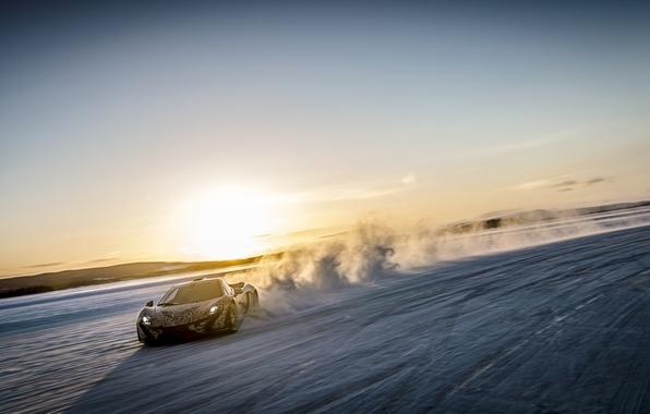 Picture snow, McLaren, speed, supercar, McLaren