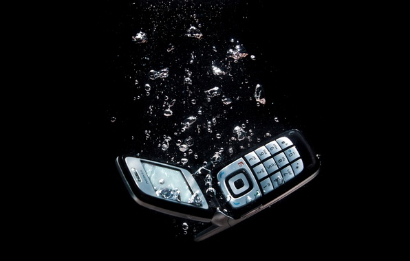 Picture water, bubbles, background, phone, dark, Nokia, clamshell