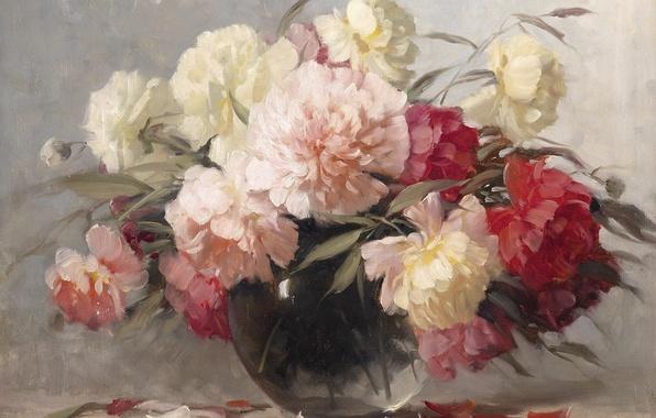 Picture flowers, bouquet, peonies, Adrienne Deak