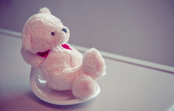 Picture pink, toy, heart, cute, bear, sitting, raspberry
