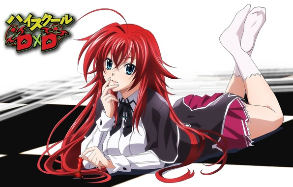 Picture girl, anime, RIAs gremory, High School DxD