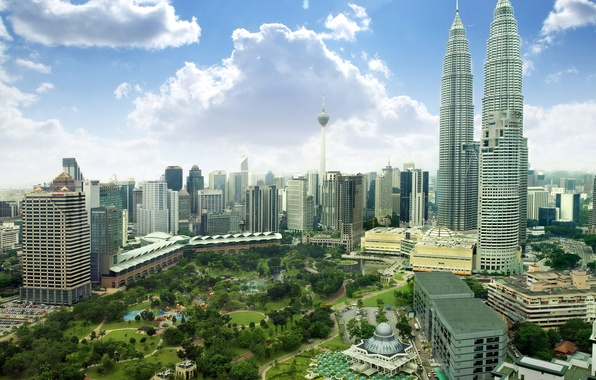 Wallpaper park skyscrapers malaysia malaysia home for Home wallpaper kl