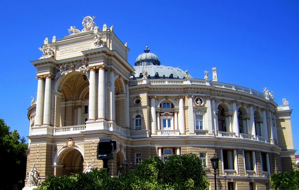 Picture the building, theatre, architecture, Ukraine, Palace, Odessa, Opera and Ballet Theater