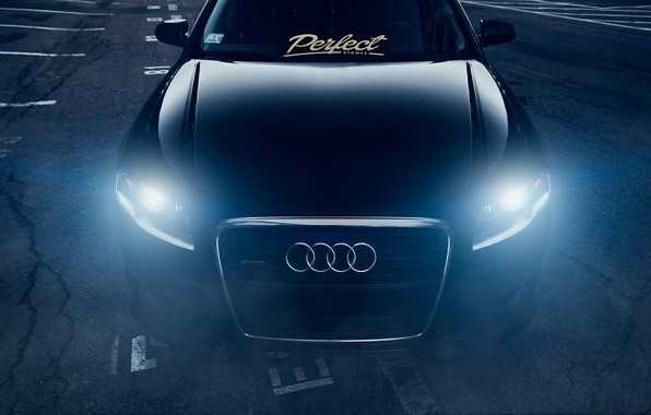Picture Audi, Dark, Front, Black, Stance, Slammed, Vehicle, Ligth