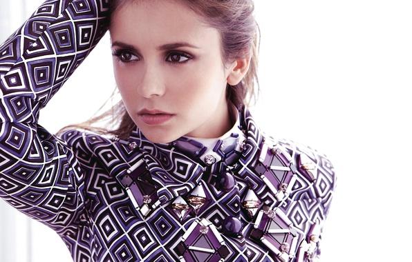 Picture look, girl, face, actress, brunette, the series, Nina Dobrev, Nina Dobrev, The Vampire Diaries, Elena, …