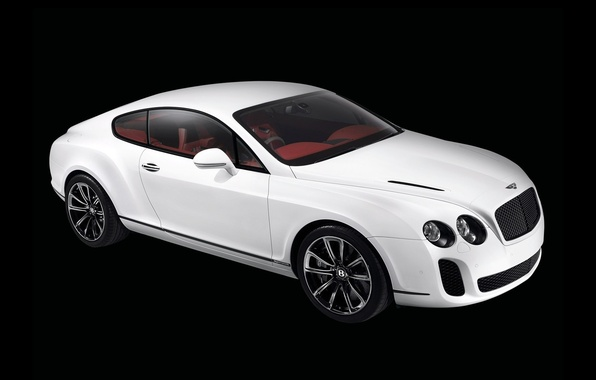 Picture white, continental, bentley
