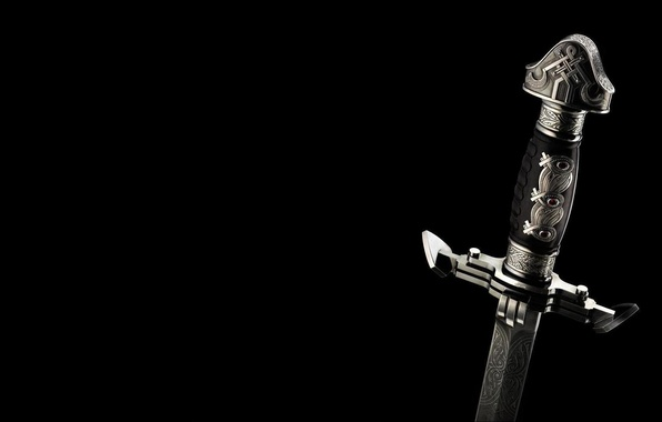 Wallpaper black, Sword, Weapons images for desktop ...