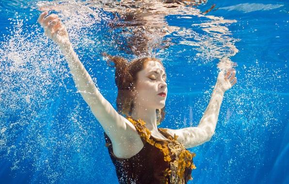 Picture peace, underwater, water, serenity, mermaid