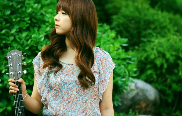 Picture Girl, Nature, Asian, Guitar, Beauty, Kpop, Singer, Korean, Juniel