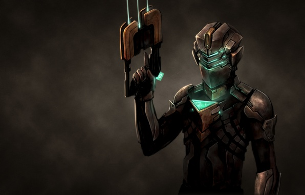 Picture the dark background, weapons, costume, dead space