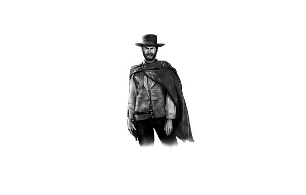 Picture minimalism, classic, Clint Eastwood, Clint Eastwood