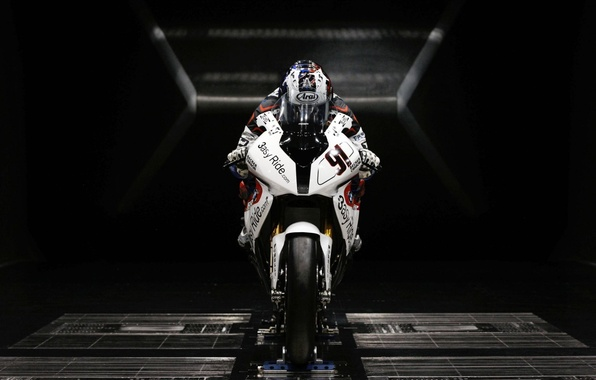 Picture white, BMW, motorcycle, sports, sportbike